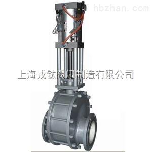 Z643TC气动单闸板陶瓷闸阀