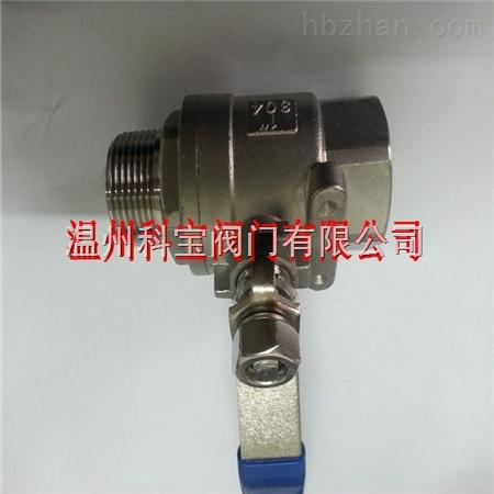 2分 DN6 1.6Mpa 两片式内外丝球阀Q11F-16P