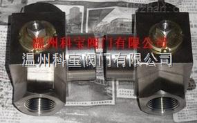 锻钢高压三通螺纹球阀DN6-50