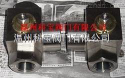 Q14/15F锻钢高压三通螺纹球阀DN6-50