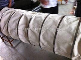 水泥厂卸料口专用{帆布伸缩布袋}水泥散装伸缩布袋