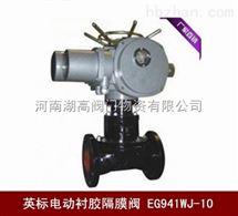 EG941WJ英标电动衬胶隔膜阀