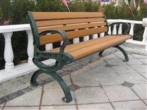 户外公园椅子塑木钢木路椅休闲长椅室外园林椅厂家直销铸铁铸铝