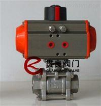 螺紋氣動三片式球閥Q611W