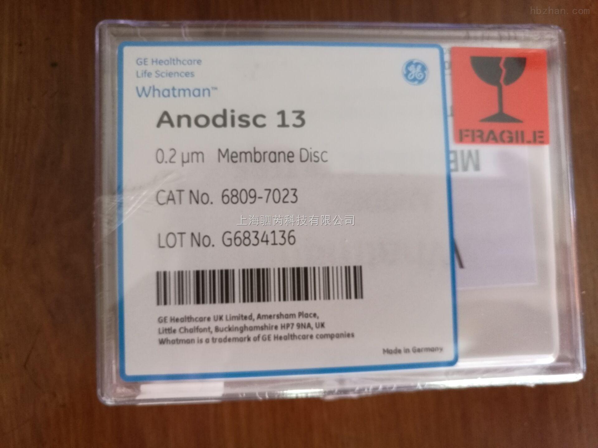 whatman WHATMAN AAO膜 氧化铝膜 无机膜 Anodisc 6809-7023
