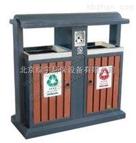 户外钢木分类垃圾桶