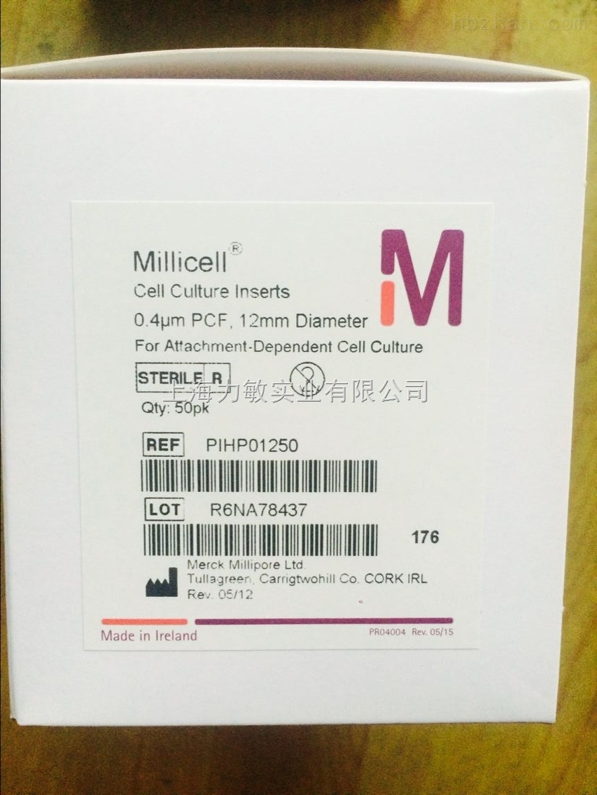 millipore悬挂式24孔板细胞小室PET(8 µm)