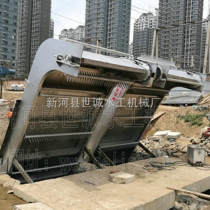 不锈钢回转式耙齿格栅清污机生产安装