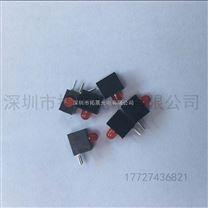 厂家直供LED灯珠含灯座3mm单色红光2脚3mm单色带灯座单孔黑色