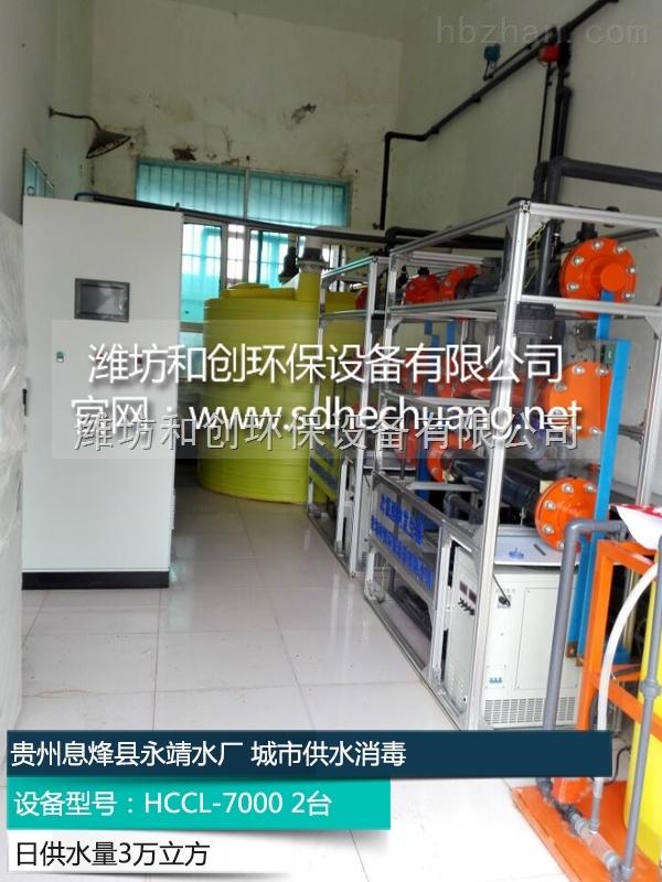 贵州六盘水自来水厂用次氯酸钠发生器