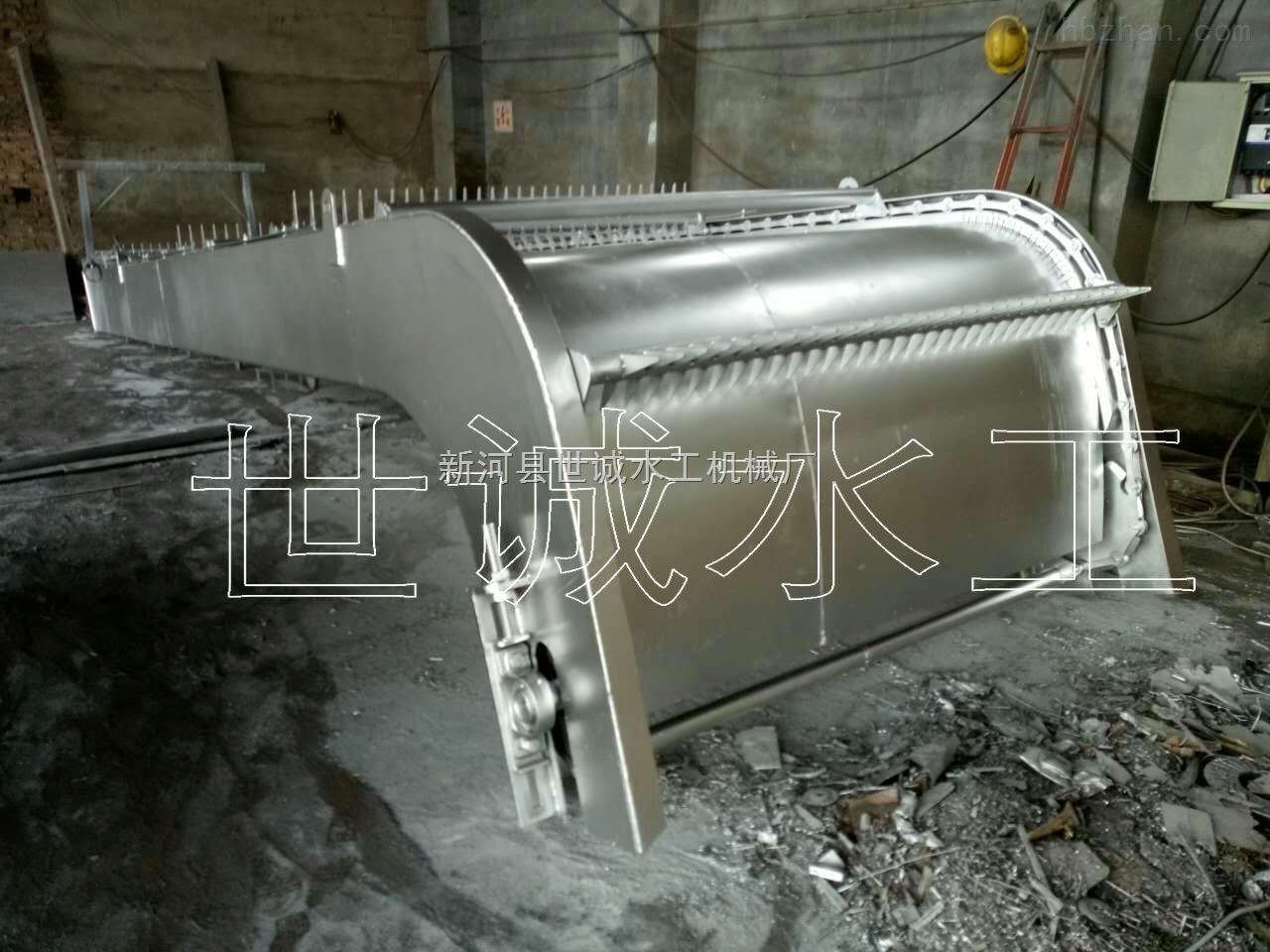 2.5m*15m-回转式格栅清污机安装调试