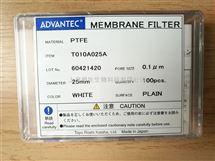 ADVANTEC疏水性PTFE聚四氟乙烯过滤膜0.1um孔径25mm直径T010A025A