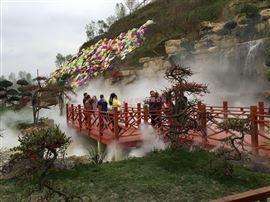 假山池流景观喷雾