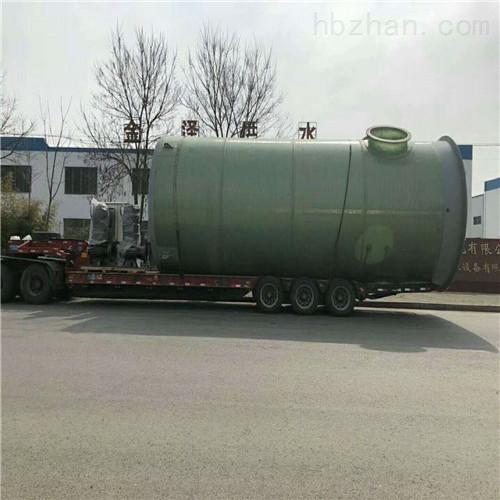 地埋式玻璃钢一体化泵站的结构原理和特性