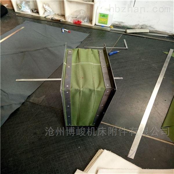 除尘绿色加厚帆布伸缩软连接