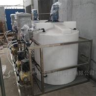 潜江300L圆形聚乙烯加药罐自动加药带搅拌机