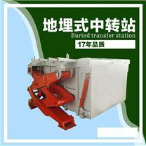 水平式垃圾转运站 地坑垃圾压缩机