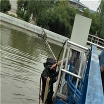 晋城市湖中管道穿越--水下摄像