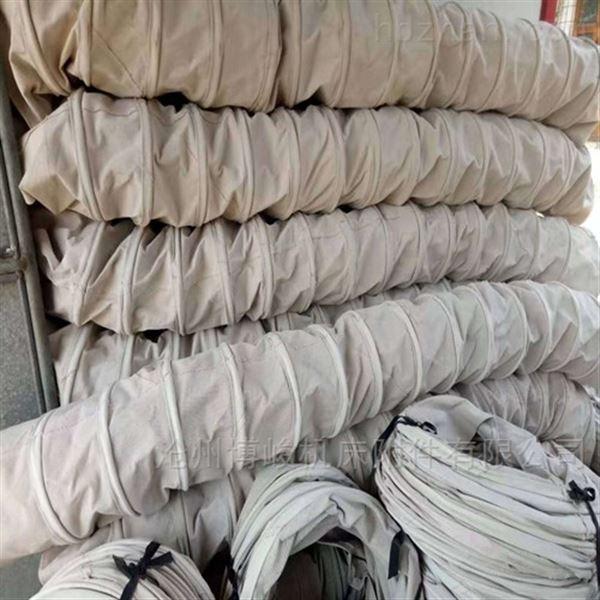 面粉卸料收尘帆布伸缩布袋供应商