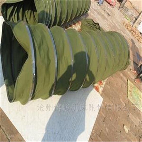 散装煤灰颗粒输送耐磨帆布伸缩袋生产厂家