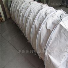 煤矿输送煤灰卸料收尘帆布伸缩布袋定做