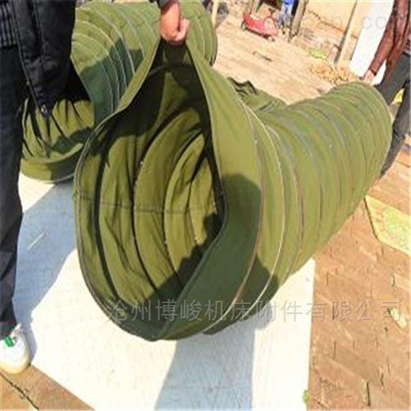 优质帆布耐磨水泥卸料伸缩布袋生产