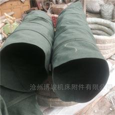 耐温耐磨耐腐蚀帆布通风除尘伸缩袋