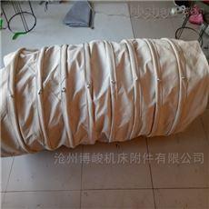下料口连接收尘帆布伸缩布袋配套用