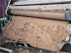 陕西鹅卵石制砂污泥压榨机效果