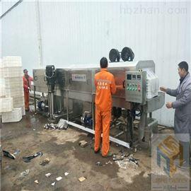 SPQX-6000热销净菜周转筐清洗机高效省人工
