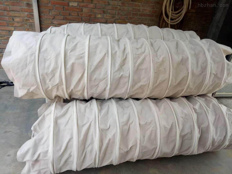 水泥卸料耐磨除尘帆布伸缩布袋