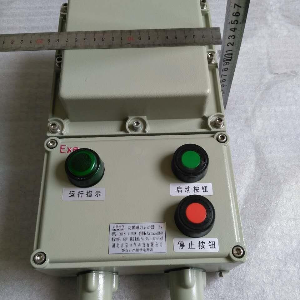 风机专用防爆磁力启动器电机保护启停开关箱