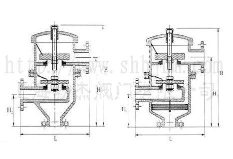 产品库 泵/阀/管件/水箱 阀门 排气阀 hxf2 带双接管阻火呼吸阀图片