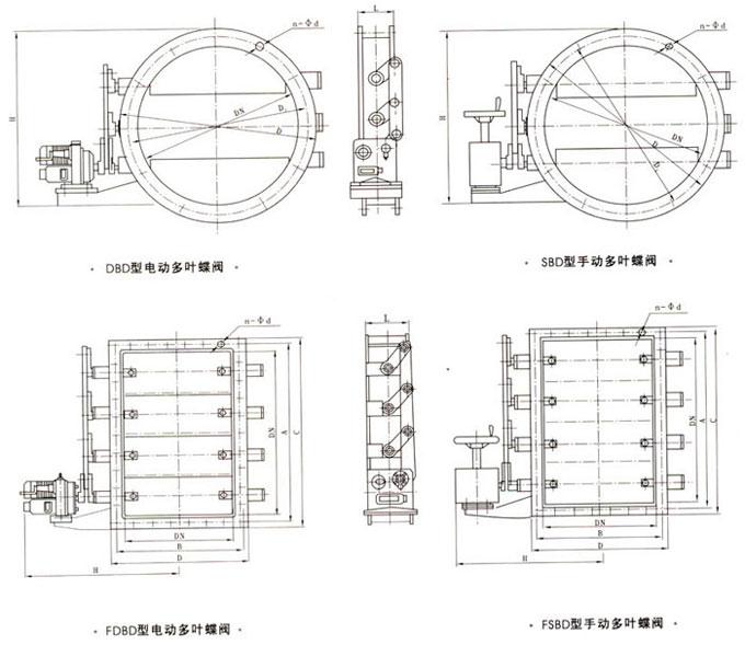 电动风机启动阀/电动多叶风机蝶阀/圆形风机启动调节阀图片