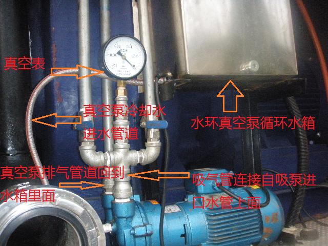 自吸泵配真空泵安装图