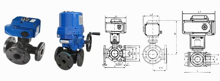 产品库 泵/阀/管件/水箱 阀门 球阀 q944h电动三通球阀    1.