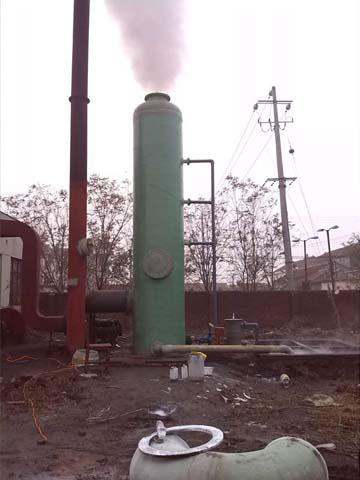 玻璃厂窑炉烟气除尘脱硫塔
