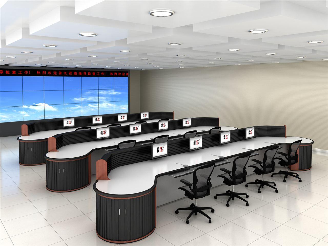 供电所指挥中心监控桌|变电所电力控制中心监控台|电力调度台