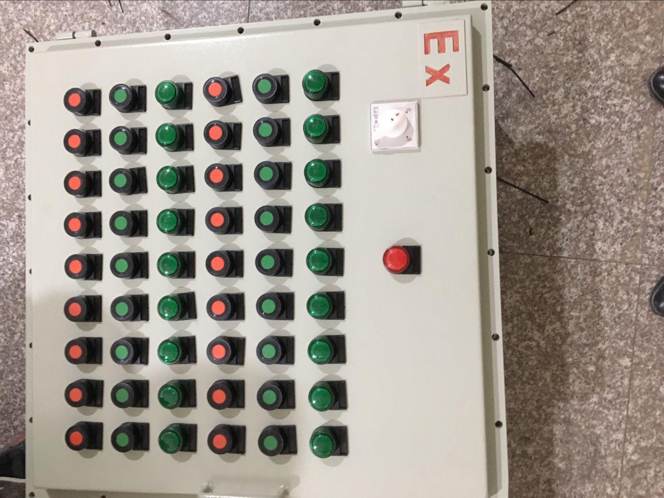 > 电机正反转防爆控制箱  1,海拨不超过2000m  2,工作温度为-20℃―