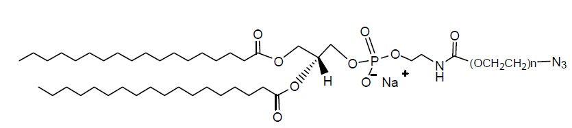 叠氮           【英文名称】dspe-peg-n3, dspe-peg-azide 【分子量