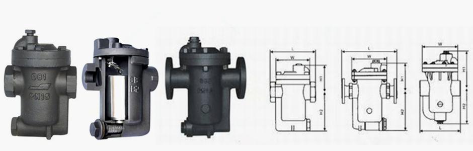 内部结构是由杠杆系统连接倒吊桶,克服蒸汽压力开关倒吊桶式疏水阀图片