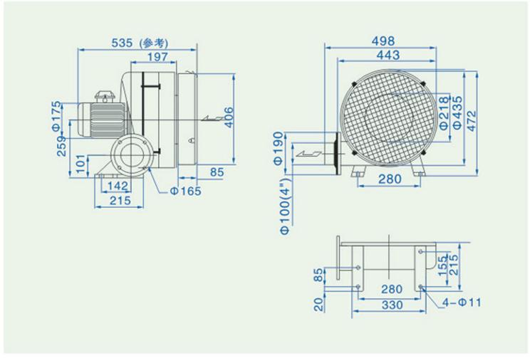 透浦多段式鼓风机HTB100-203