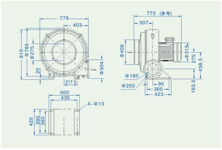 透浦式鼓风机HTB200-1502