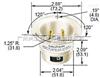 合宝/哈勃/hubbell扭锁式Flanged Twistlock Inlets插头插座